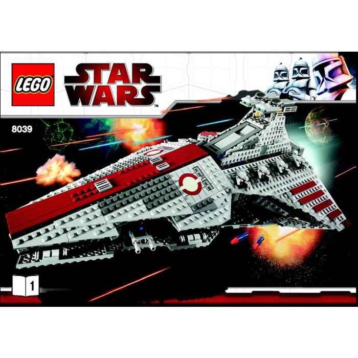 LEGO Venator-Class Republic Attack Cruiser Set 8039 Instructions