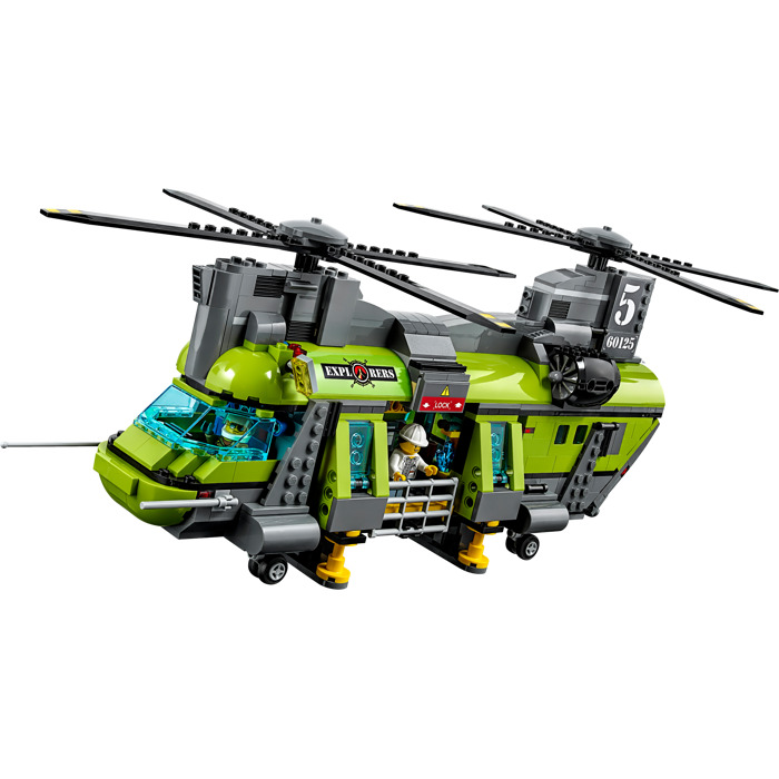 lego city police helicopter with Lego Volcano Heavy Lift Helicopter Set 60125 on Red Cargo Train 3677 moreover Police Headquarters Lego Set 7744 1 Nisb as well Lego 7743 likewise Lego Volcano Supply Helicopter Set 60123 besides Watch.