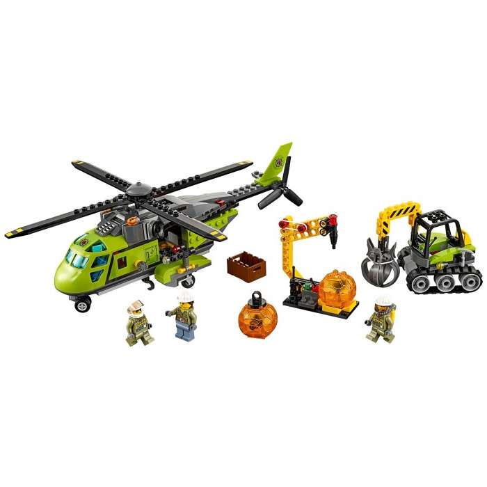 lego cargo helicopter with Lego Volcano Supply Helicopter Set 60123 on Twin Rotor Cargo in addition Fishing Boat 60147 together with Police Station 60141 together with Lego Introduces Its First Ever Baby Minifigure besides Nouveautes Lego City Second Semestre 2017 Quelques Visuels Officiels.