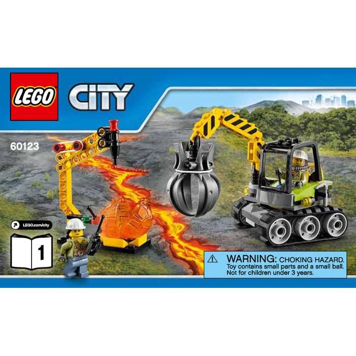 Lego Volcano Supply Helicopter Set 60123 Instructions Brick Owl
