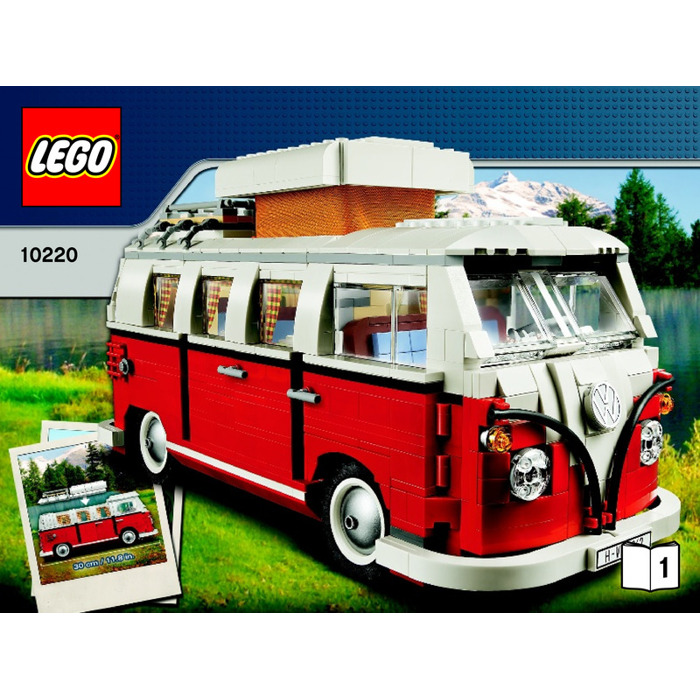 lego volkswagen t1 camper van set 10220 instructions brick owl lego marketplace. Black Bedroom Furniture Sets. Home Design Ideas