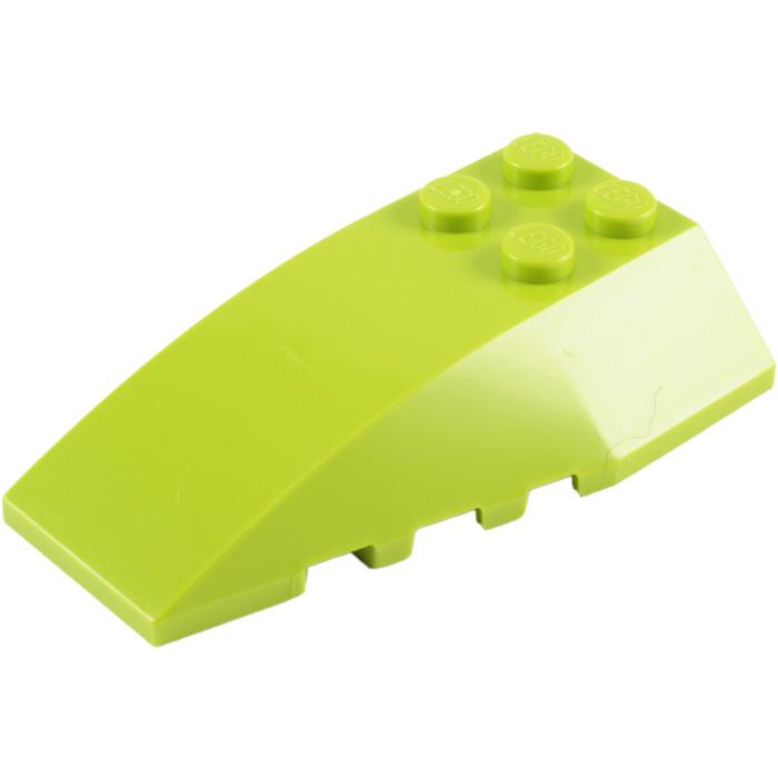 2 NEW LEGO Wedge 6 x 4 Triple Curved Black