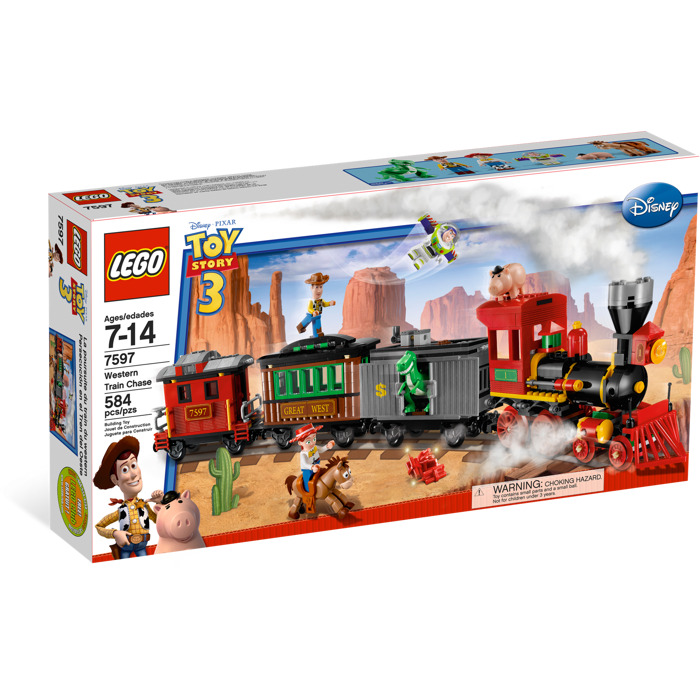 New Toy Story 3 Train : Lego western train chase set brick owl