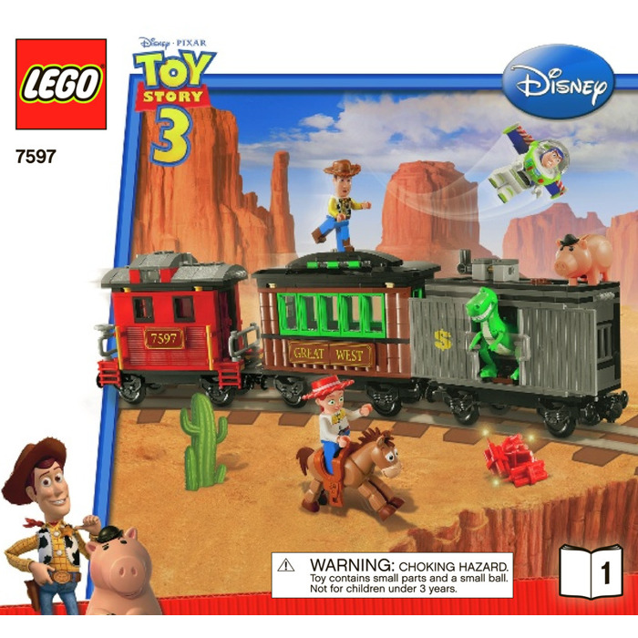 Lego Western Train Chase Set 7597 Instructions Brick Owl Lego