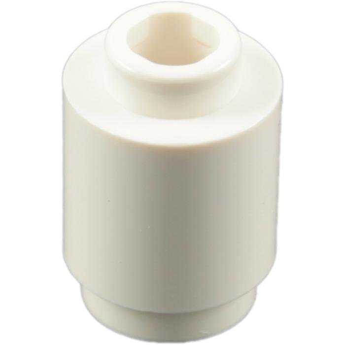 50 NEW LEGO White 1x1 Round Brick 3062//306201 tube column