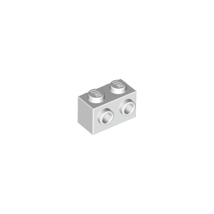 5 Pieces NEW 1x2 Light Grey Brick With Studs On Both Sides LEGO 52107