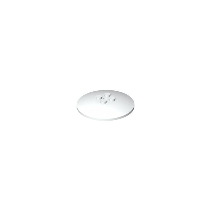 LEGO® White Dish 6 x 6 Inverted Radar Part 44375b
