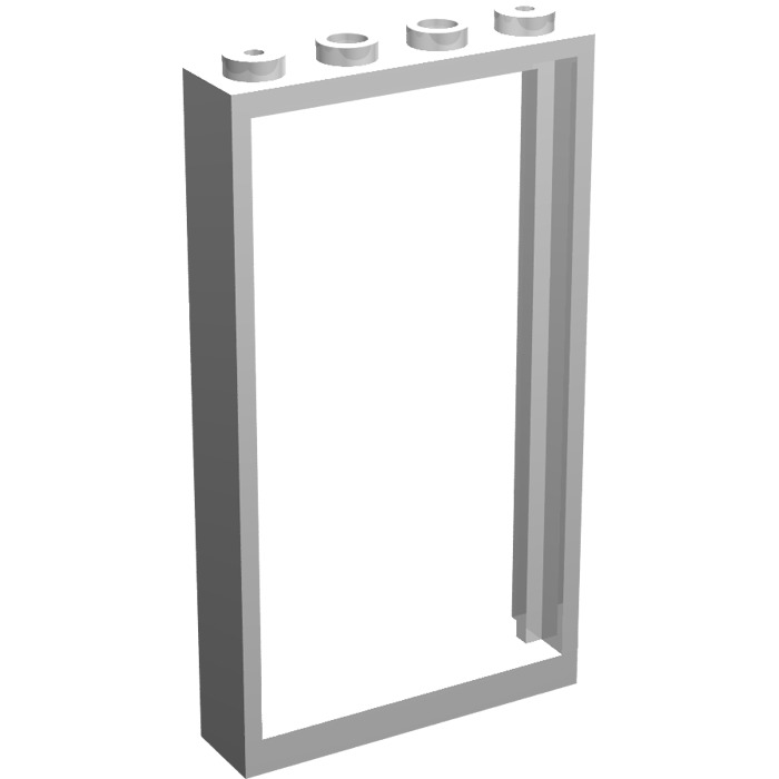 lego white door frame 1 x 4 x 6 double sided 30179 - Double Sided Frame
