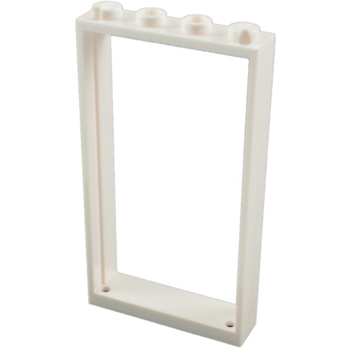 LEGO White Door Frame 1 x 4 x 6 Single Sided (60596) | Brick Owl ...