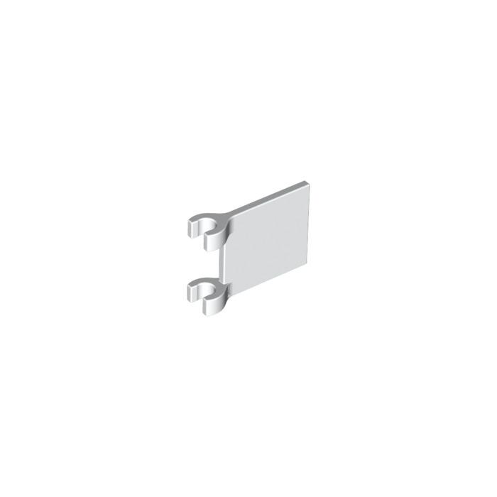 4 Piece 2335 B6 # LEGO FLAG 2x2 White without Sticker