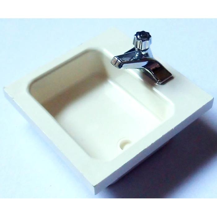 LEGO White Homemaker Washbasin Sink With Tap