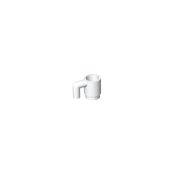3x Lego 3899 Tasse Glas Becher weiss white 4215140 4659665