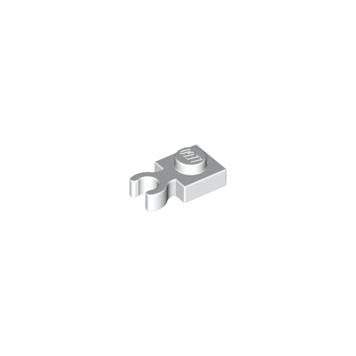 LEGO White Plate 1 x 1 with Vertical Clip (Thick Open 'O ...