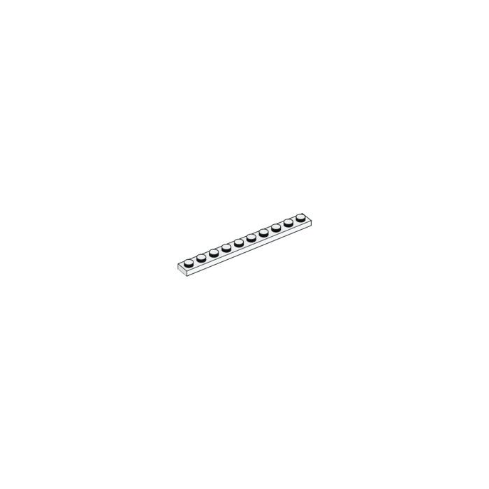 Lego Basic Technik Technic 10 Platten 1x10 #4477 weiss
