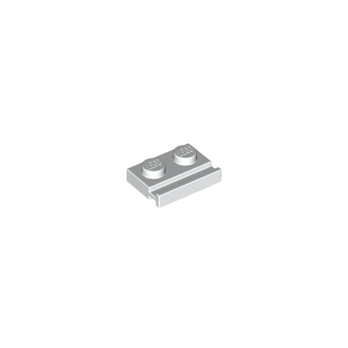LEGO® White Plate 1 x 2 with Door Rail Design ID 32028