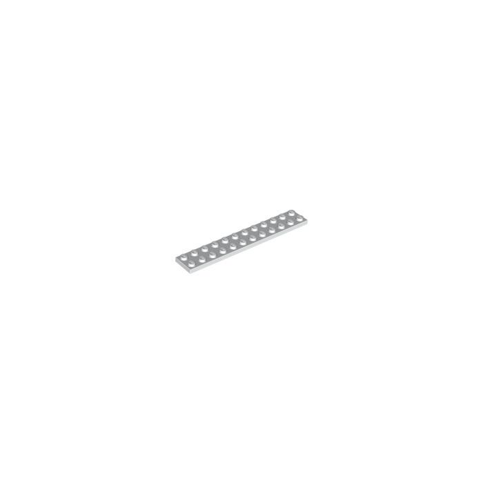 Lego 8 x placa convención plano 2445 negro 2x12