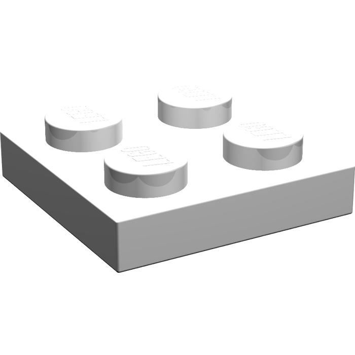 3022-05 Used Lego ® Plates-White 50Stk - Plate-White 2x2