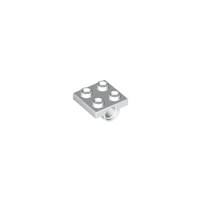 Bright Grey x12 2444 Lego Technic Plate 2x2 with 1 hole underneath