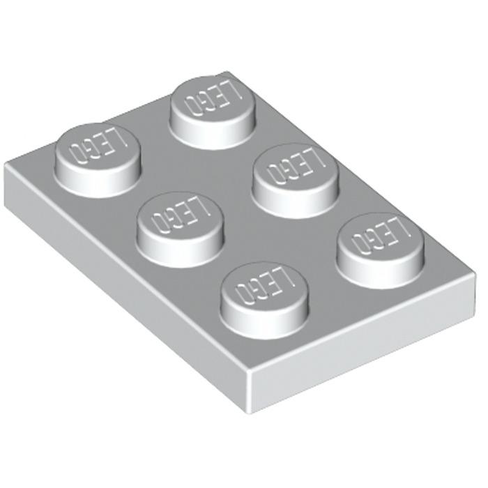 baseplate white weiß Lego ® 25x Platte 3021 Bauplatte 2x3
