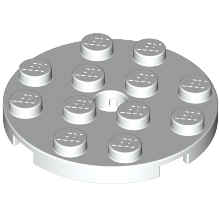 LEGO® Black Plate Round 4 x 4 and Hole Design ID 60474