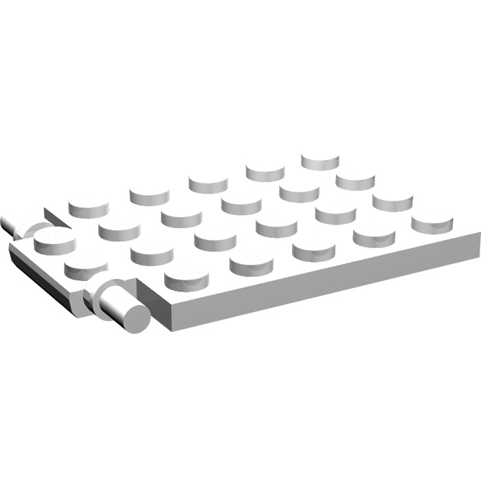 Lego 1x Plate Modified 4x6 6x4 Trap Door Frame 92099 White//Blanc//Weiss