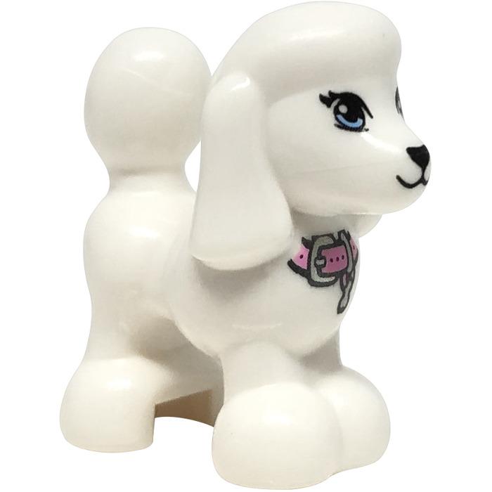 Lego 1x animal dog poodle dog poodle necklace pink white//white 11575pb01 new
