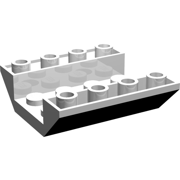 LEGO 72454 INVERTED 45 DOUBLE SLOPE 4x4 WHITE QTY x 8 BRAND NEW