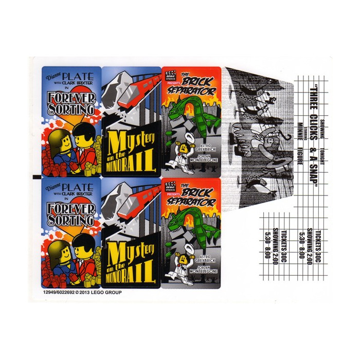 LEGO White Sticker Sheet for Set 10232 (12949)