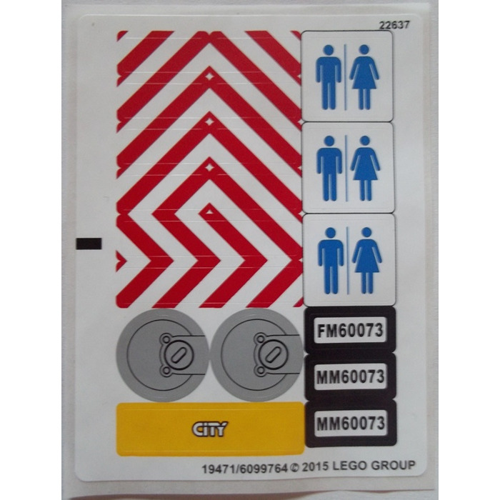 LEGO White Sticker Sheet for Set 60073 (19471 / 19472)   Brick Owl ...