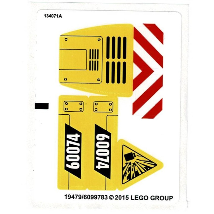 Lego White Sticker Sheet For Set 60074 19477 19479 Brick Owl Lego Marketplace