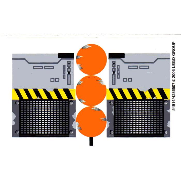 Lego White Sticker Sheet For Set 6208 54914 Brick Owl Lego