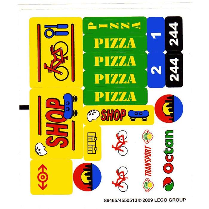 Lego City Pizza Shop Instructions