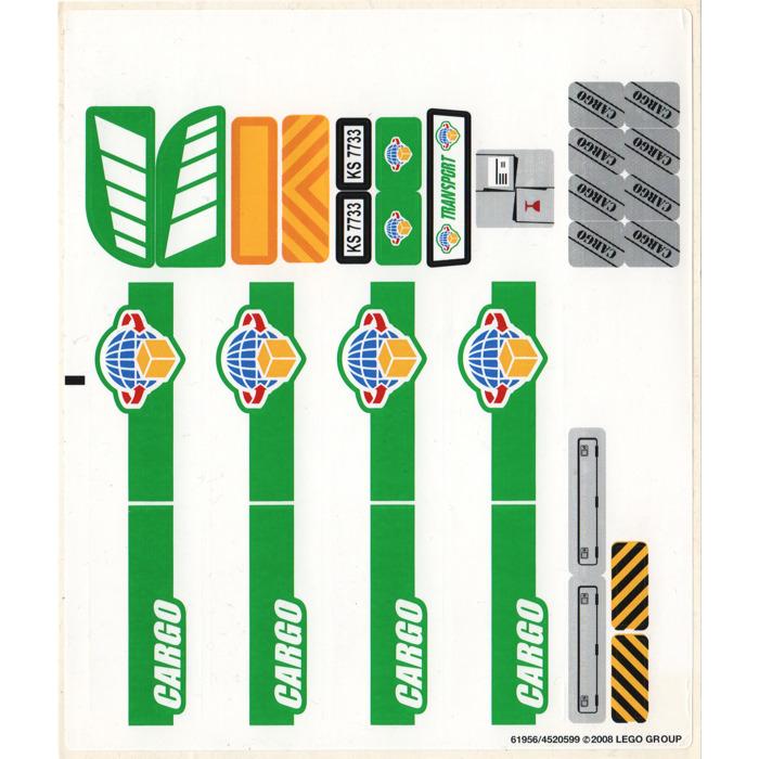 LEGO White Sticker Sheet for Set 7733 (61956)   Brick Owl - LEGO ...