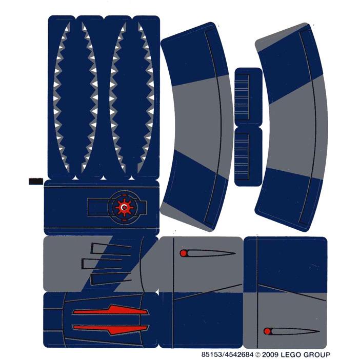 Lego White Sticker Sheet For Set 8016 85153 Brick Owl Lego