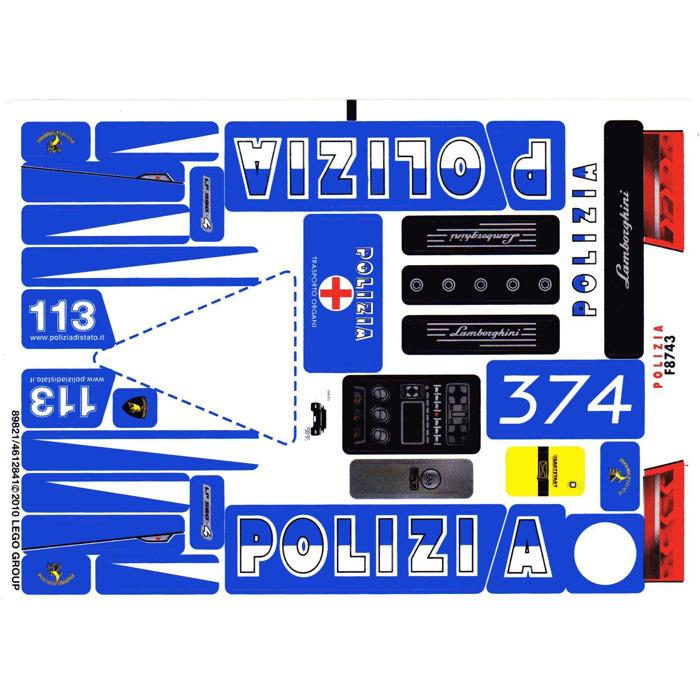 LEGO Lamborghini Polizia Set 8214 | Brick Owl - LEGO Marketplace