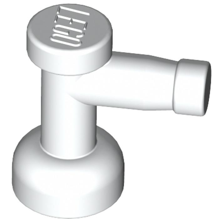 LEGO® White Tap 1 x 1 Design ID 4599b