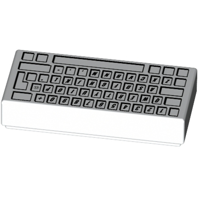 4293350-81890 Lot x2 Lego Plaque Clavier BLANC WHITE Plate 1x2 Keyboard