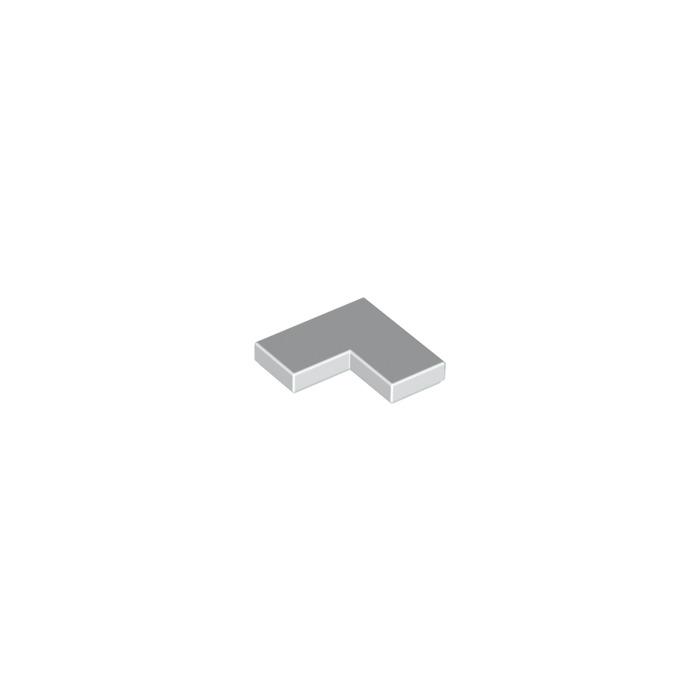 LEGO LOT 40 X FLAT TILE CORNER 1X2X2 BLANC 6058329 *NEUF* WHITE REF 14719