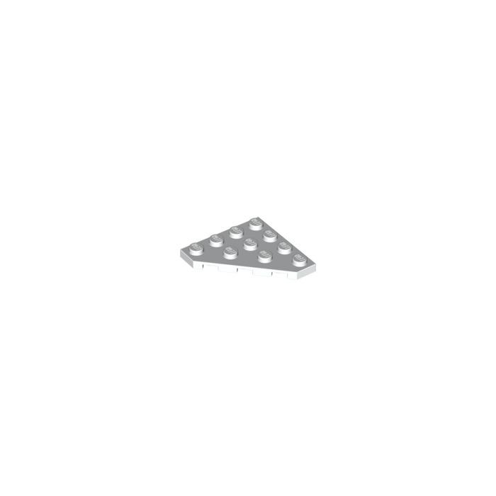 Lego 4x Aile Wedge plate 4x4 Cut Corner blanc//white 30503 NEUF