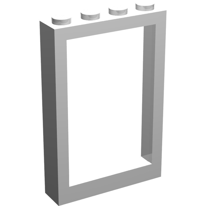 LEGO White Window 1 x 4 x 5 with Fixed Glass - Frame | Brick Owl ...
