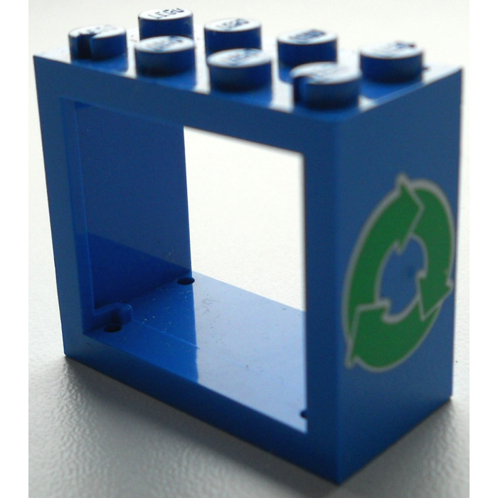 Lego window 2 x 4 x 3 with decoration with rounded holes for 2 x 3 window