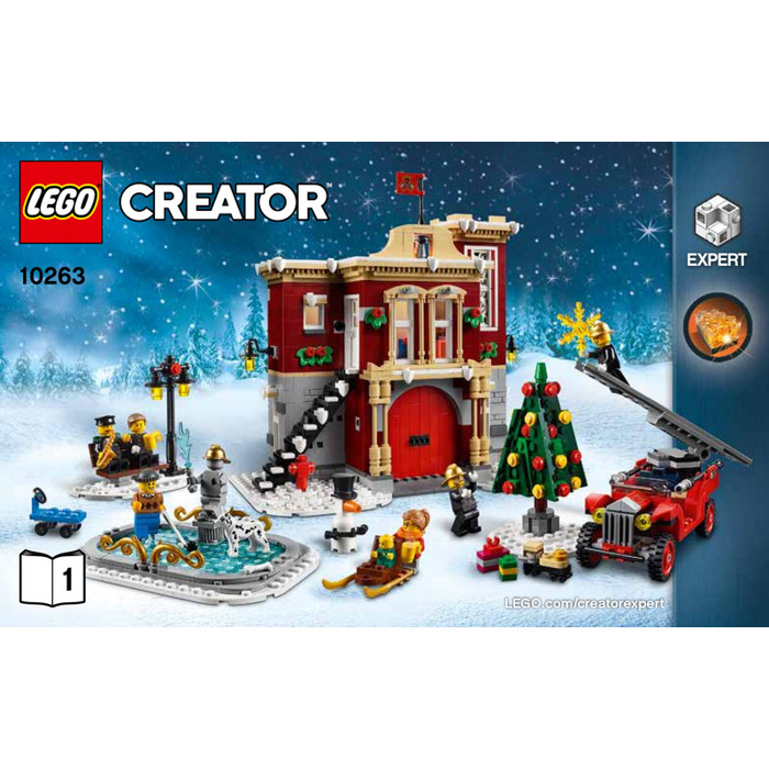 Lego Winter Village Fire Station Set 10263 Instructions Brick Owl