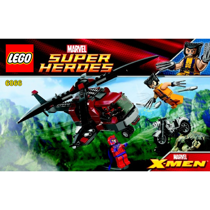 Lego Wolverines Chopper Showdown Set 6866 Instructions Brick Owl