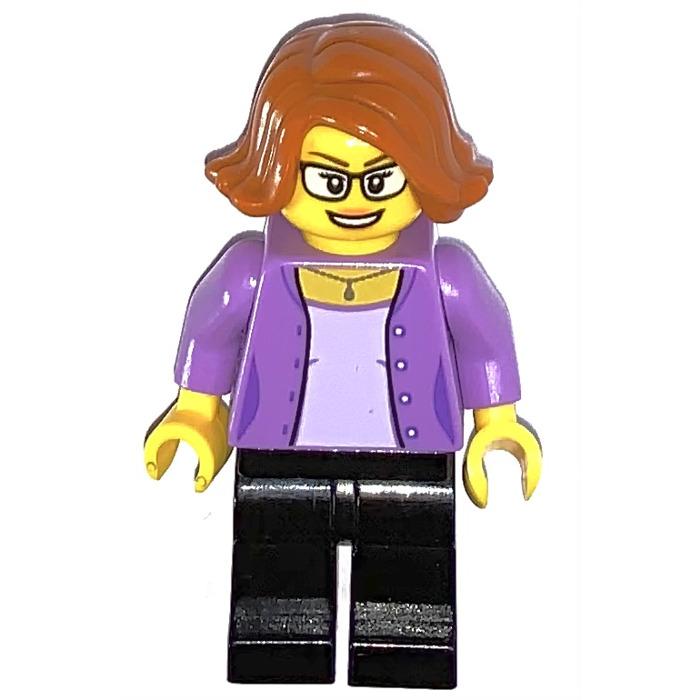 LEGO Woman in Medium Lavendar Jacket Minifigure   Brick