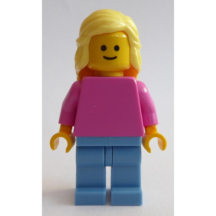 LEGO Woman in Medium Dark Flesh Jacket Minifigure   Brick