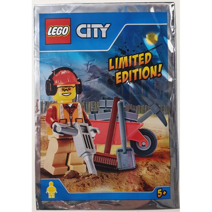 Lego 951702 City Workman with Wheelbarrow Poly Bag Stocking Filler