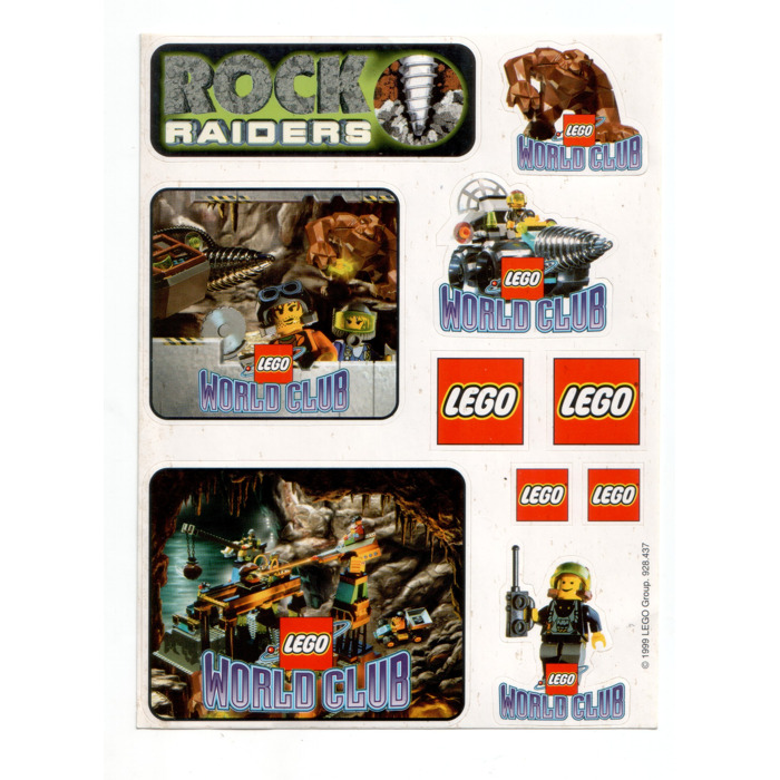 LEGO World Club sticker sheet 'Rock Raiders' | Brick Owl - LEGO ...