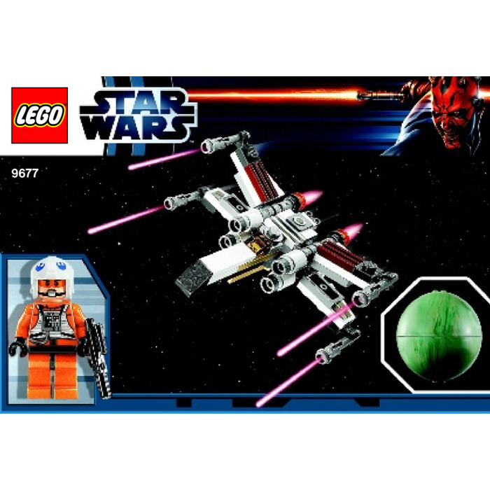 LEGO X-wing Starfighter & Yavin 4 Set 9677 Instructions