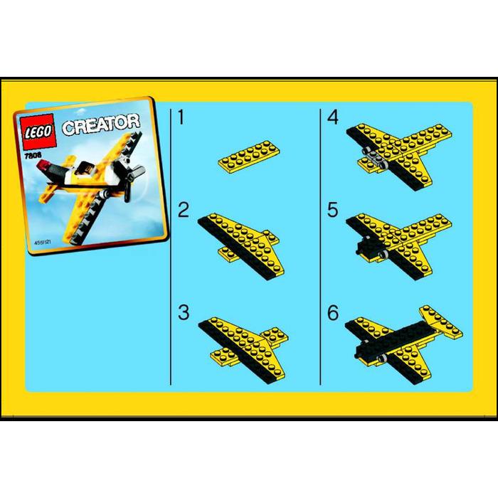 Как сделать из лего самолет
