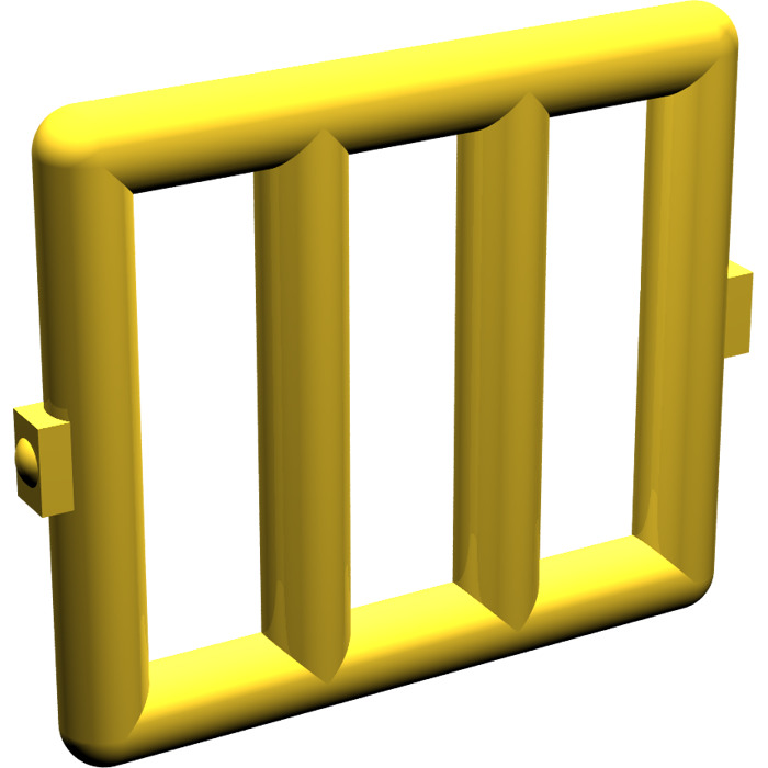 Lego yellow bar 1 x 4 x 3 with 2 window hinges 6016 for 1 x 3 window